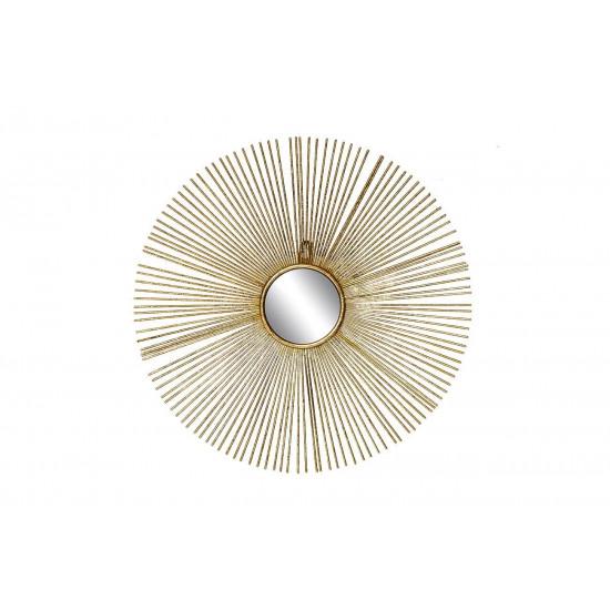 Зеркало солнце декоративное золотое 38,7*38,7*2,5 см, центральный диаметр 8,5 см 37SM-0533  в интернет-магазине ROSESTAR фото