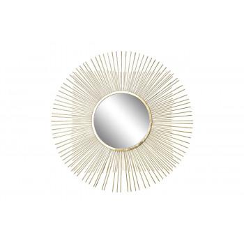 Зеркало солнце декоративное золотое 70,5х70,5х1,9 см, центральный диаметр 28 см 37SM-0734-R