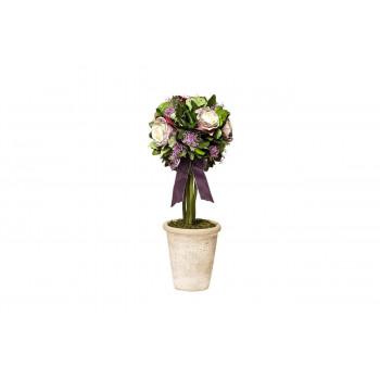 Цветочная композиция Розы в горшке стабилизированные 17х42 34JN-098