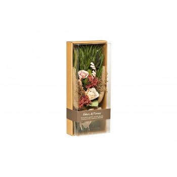 Цветочная композиция Розы стабилизированные в коробке 17х41 34JN-023