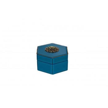 Синяя шкатулка 14*10*16 см GD-7775
