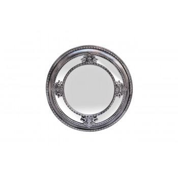 Круглое зеркало в серебряной зеркальной раме d59,6*5,6см M983B