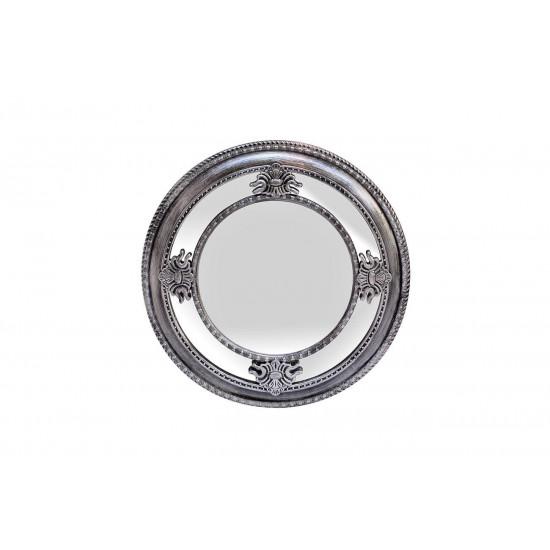 Круглое зеркало в серебряной зеркальной раме d59,6*5,6см M983B  в интернет-магазине ROSESTAR фото