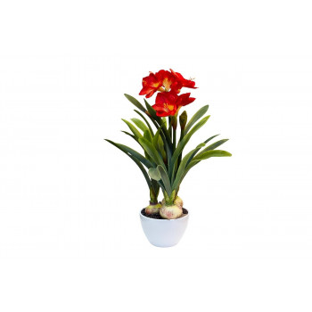 Амариллис красный в горшке, 76 см 29BJ-814-23