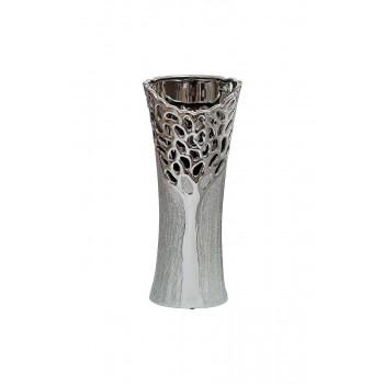 Керамическая серебряная ваза 16,8х10,5х39 18H5367M-9