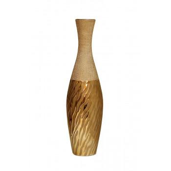 Керамическая золотая ваза 15,6х15,6х59 18H3608S-10