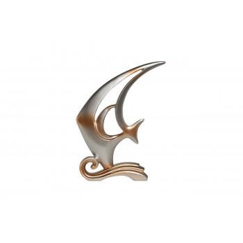 Статуэтка Рыба серебряная 28х7,5х33 D1734