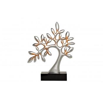 Статуэтка Дерево черно-серебряная 31х10х38 D1735