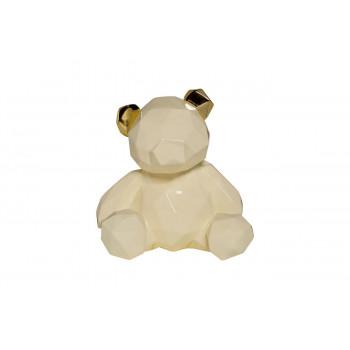 Статуэтка Мишка белая маленькая 20х19х15 D1738