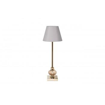 Настольная лампа с серым абажуром 22-87898
