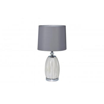 Настольная лампа с серым абажуром 22-87755