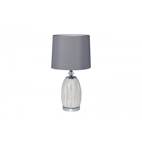 Настольная лампа, плафон светло-серый d30*62см (2) 22-87755 в интернет-магазине ROSESTAR фото