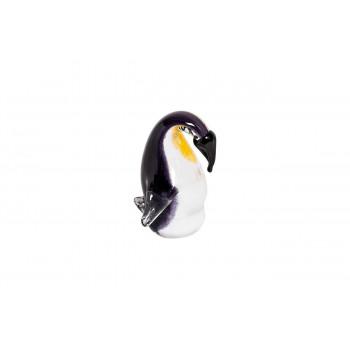Статуэтка Пингвин черно-желтая 9х8,5х11,5 см F7084