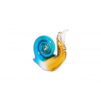 Статуэтка Улитка желто-голубая 11х4,5х11,5 см F6657