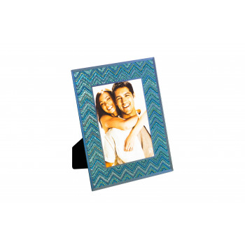 Фоторамка декоративная голубая 12х18х3 см 19-OA-450-57