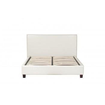 Двуспальная белая кровать 115х160х200 см PJB-001