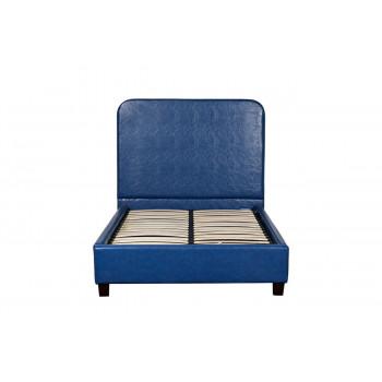 Синяя кровать односпальная 135х120х200 см PJB-016