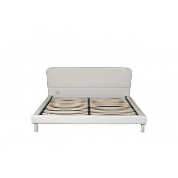 Белая кровать односпальная 85х160х200 см PJB-017