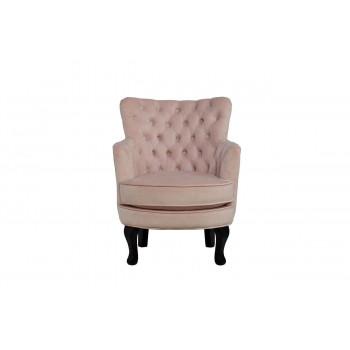 Розовое кресло на деревянных ножках велюр 64*70,5*77см PJC741-PJ621