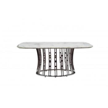 Стол обеденный светло-серый 180х100х76 см 45EX-DT122