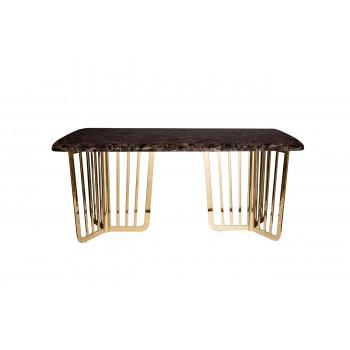 Стол обеденный коричневый искусственный мрамор 33FS-DT1800-PG