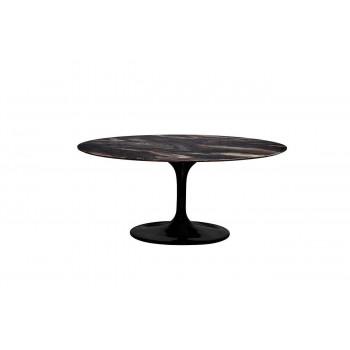 Стол обеденный овальный чёрный Cippolo 170х110х76,2 см 33FS-DT3056-BL