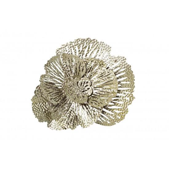 Настенный декор Цветок серебристый 36,8*40,6*9,53см 37SM-8321-JN в интернет-магазине ROSESTAR фото