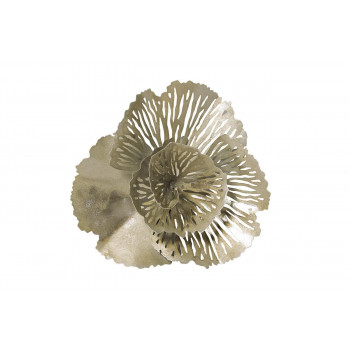 Настенный декор Цветок серебристый 29,8*29,8*9,5см 37SM-1363-F1