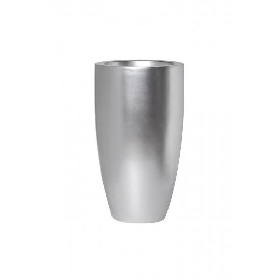 Кашпо 33*33*58см цвет серебро ZS-C899-23  в интернет-магазине ROSESTAR фото