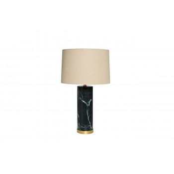 Настольная лампа мраморная с белым абажуром 22-88127