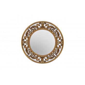 Круглое декоративное зеркало в золотой раме d62,2*2,9см M329