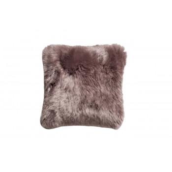 Меховая квадратная серая подушка двусторонняя НЗ 40*40