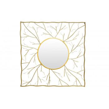 Квадратное декоративное зеркало 102х102х6, д48 19-OA-6139