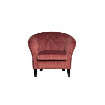 Велюровое кресло на деревянных ножках темно-розовое 69*72*83см PJS30801-PJ626