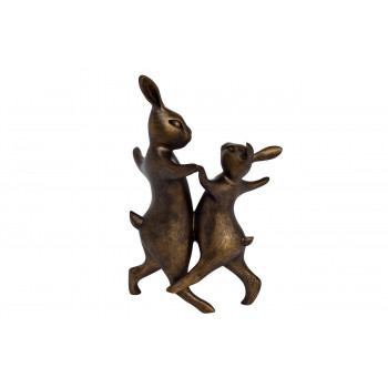 Статуэтка Танцующие кролики 18х13х30,5 D1831