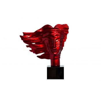 Статуэтка красная Голова женщины 55х18х59 D5546MR