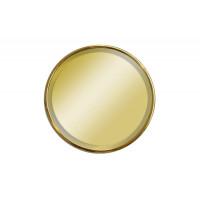 Круглое настенное зеркало в золотой раме  з500*500*20мм арт. KFE019-1