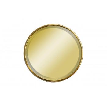 Круглое настенное зеркало в золотой раме  з500*500*20мм  KFE019-1
