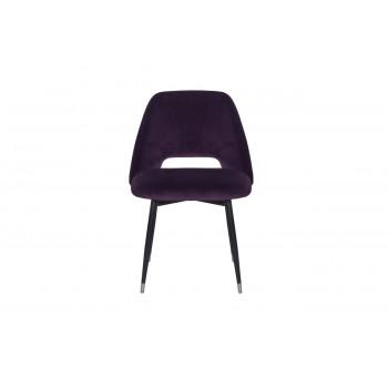 Велюровый стул на металлических ножках фиолетовый 54,5*58*80см 46AS-CH3073-VIOL