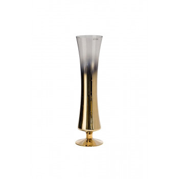 Стеклянная прозрачная ваза с розовым золотом 12,3*13,4*50см 35BB-09150CG