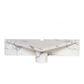 Угловой журнальный столик из дерева 138,5х68,6х30,5 33FS-CT305