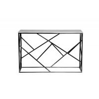 Металлическая консоль из нержавеющей стали с искусственным белым мрамором 120*40*79см 47ED-CST015BLSM