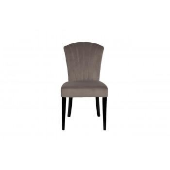 Велюровый стул с волнистой спинкой бежево-серый 50*63*88см PJC776-PJ631