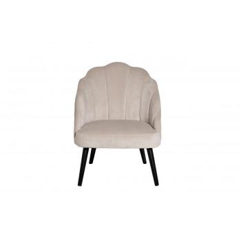 Кремовое велюровое кресло с волнистой спинкой на деревянном каркасе 67*72*86 PJC483-PJ634
