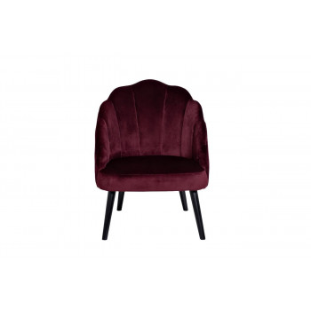 Бордовое велюровое кресло с волнистой спинкой 67*72*86см PJC483-PJ604