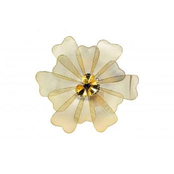 Настенный декор Цветок золотистый 47,6*45,7*7,0см 37SM-1164