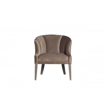 Велюровое кресло на деревянном каркасе серое 70*72*78см ZW-857 GRE