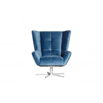 Синее кресло вращающееся велюр 90*87*100см ZW-868 BLU SS