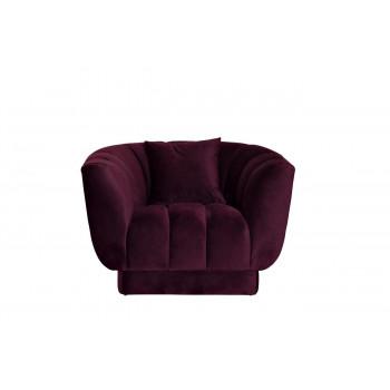 Велюровое кресло с подушкой тёмно-фиолетовое мягкое 108*95*74см ZW-81101 DVI