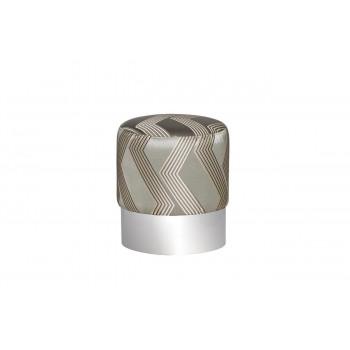 Оттоманка(пуф) серебристая металлическая d40*46см ZW-694-A SLVSS